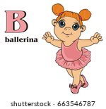 smiling girl with word...   Shutterstock . vector #663546787