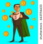 businessman character with... | Shutterstock .eps vector #663556633