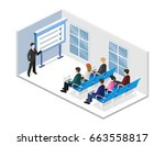 business meeting in an office... | Shutterstock . vector #663558817
