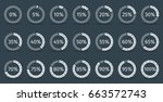 set of circle percentage... | Shutterstock .eps vector #663572743