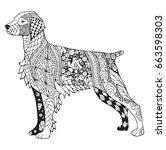 brittany dog zentangle stylized ...