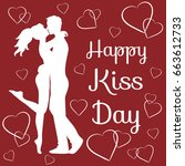 world kiss day background with... | Shutterstock .eps vector #663612733