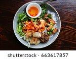 fresh healthy vietnamese asian... | Shutterstock . vector #663617857