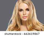 woman cosmetic closeup beauty... | Shutterstock . vector #663619867