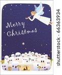 birth of jesus. angel is... | Shutterstock .eps vector #66363934