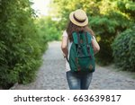 girl have trip to european old...   Shutterstock . vector #663639817