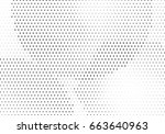 abstract halftone dotted... | Shutterstock .eps vector #663640963