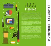 fishing concept design... | Shutterstock .eps vector #663650467
