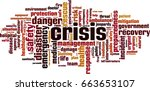 crisis word cloud concept.... | Shutterstock .eps vector #663653107