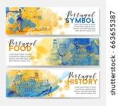 portugal banner vector set | Shutterstock .eps vector #663655387