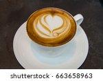 cappuccino | Shutterstock . vector #663658963
