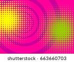 pop art colored vector halftone ... | Shutterstock .eps vector #663660703