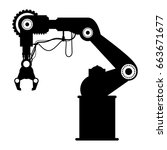 robot arm laser | Shutterstock .eps vector #663671677
