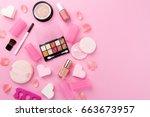 beauty spa feminine concept....   Shutterstock . vector #663673957