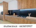 contemporary kitchen interior | Shutterstock . vector #663693907