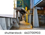 container ship 's deck. part of ... | Shutterstock . vector #663700903