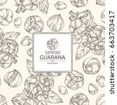background with guarana. super... | Shutterstock .eps vector #663703417