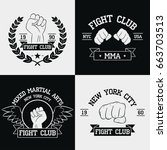 fight club graphics for t shirt ... | Shutterstock .eps vector #663703513