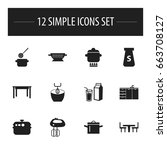 set of 12 editable restaurant...