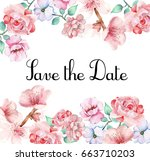 flowers ornament pattern... | Shutterstock . vector #663710203