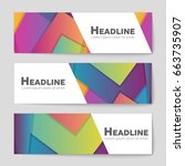 abstract vector layout... | Shutterstock .eps vector #663735907