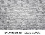 pattern of black slate wall... | Shutterstock . vector #663766903