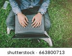 connect online business using... | Shutterstock . vector #663800713