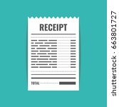 receipt icon. invoice sign.... | Shutterstock .eps vector #663801727