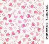 seamless flowers    Shutterstock .eps vector #663805333