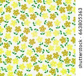 seamless flowers    Shutterstock .eps vector #663805363