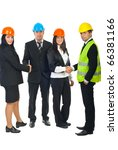 two teams of architects ... | Shutterstock . vector #66381166