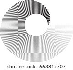 lines in circle form . spiral... | Shutterstock .eps vector #663815707