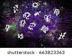 astrology zodiac signs | Shutterstock . vector #663823363