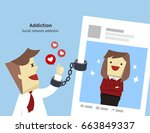 illustration vector social... | Shutterstock .eps vector #663849337