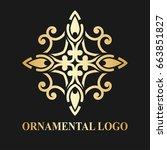 luxury ornamental logotype.... | Shutterstock .eps vector #663851827