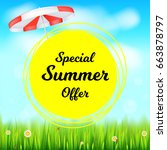 special summer offer selling ad ...   Shutterstock .eps vector #663878797