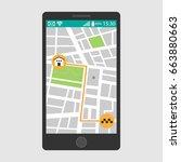 vector illustration of a mobile ... | Shutterstock .eps vector #663880663