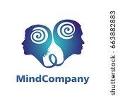 modern human heads logo of...   Shutterstock .eps vector #663882883