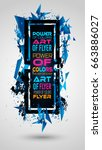 futuristic frame art design... | Shutterstock .eps vector #663886027