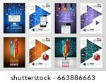 brochure template  flyer design ... | Shutterstock .eps vector #663886663