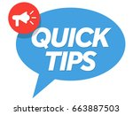 quick tips vector | Shutterstock .eps vector #663887503