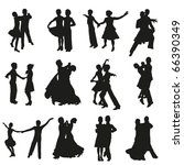 set of dancing couple... | Shutterstock .eps vector #66390349