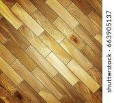 parquet floor texture 3d... | Shutterstock . vector #663905137