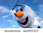 Small photo of AUCKLAND - JUN 18 2017:Olaf snowman, fictional character from the 2013 animated film Frozen, produced by Walt Disney Animation Studios.