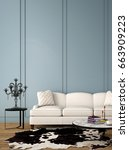 interior design for living area ... | Shutterstock . vector #663909223