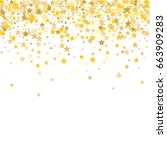 gold stars on a white... | Shutterstock .eps vector #663909283