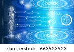 abstract background technology... | Shutterstock .eps vector #663923923