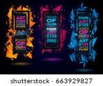 futuristic frame art design... | Shutterstock . vector #663929827