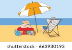 vacation on the beach. concept... | Shutterstock .eps vector #663930193