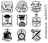 vintage cooking in kitchen... | Shutterstock .eps vector #663934777